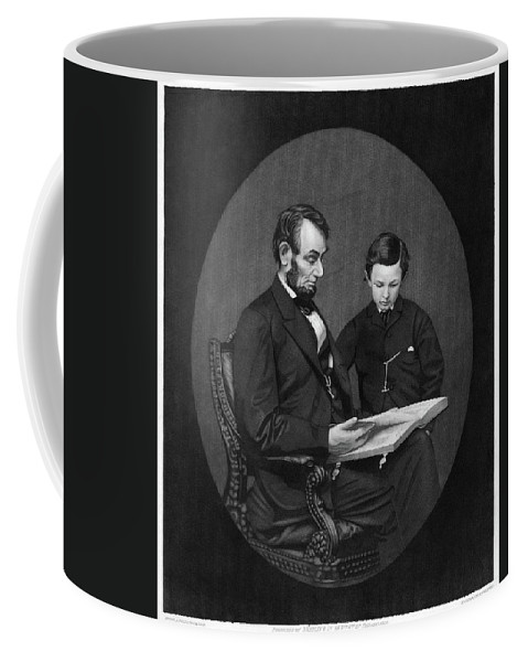 1865 Coffee Mug featuring the painting Abraham Lincoln (1809-1865) by Granger