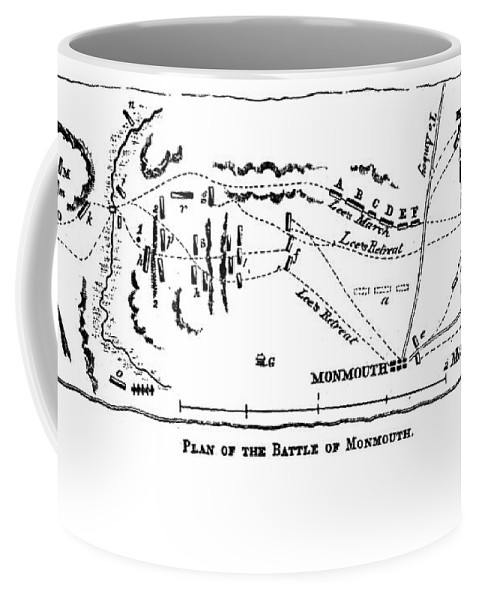 1778 Coffee Mug featuring the photograph Battle Of Monmouth, 1778 by Granger