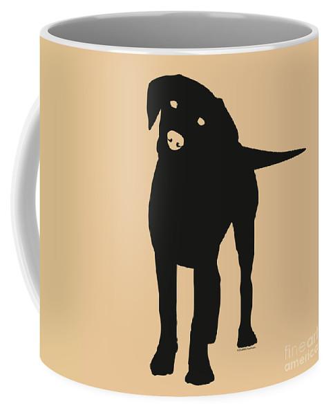 Silhouette Coffee Mug featuring the digital art Black Labrador by Elizabeth Harshman
