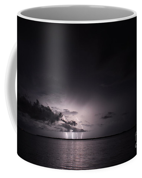 Powerful Coffee Mug featuring the photograph 4 Bolts From Above by Quinn Sedam