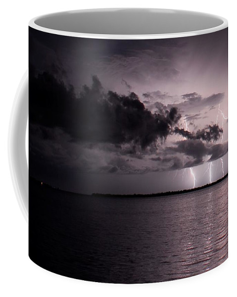 Powerful Coffee Mug featuring the photograph 4 Bolts Over Captiva Island by Quinn Sedam