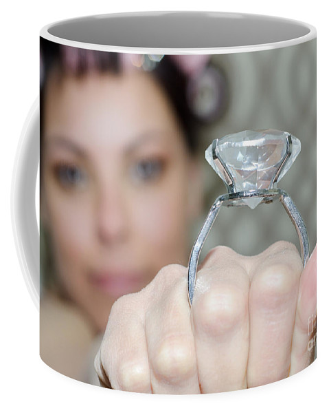 Woman Coffee Mug featuring the photograph Diamond Ring by Mats Silvan