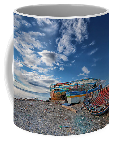Boat Coffee Mug featuring the photograph Fishing Boat by Paul Fell