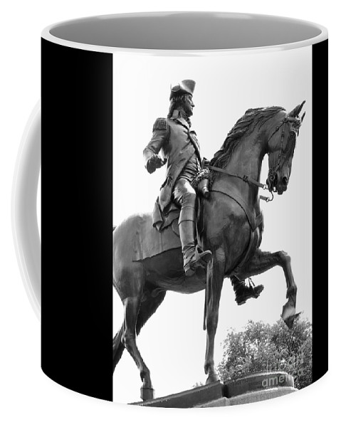 George Washington Coffee Mug featuring the photograph George Washington Statue Boston Ma by Staci Bigelow