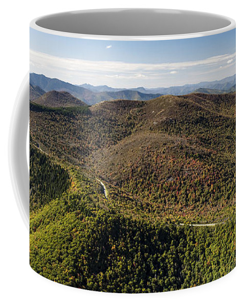 Graveyard Fields Coffee Mug featuring the photograph Graveyard Fields On The Blue Ridge Parkway Aerial by David Oppenheimer