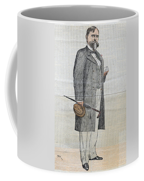 1890 Coffee Mug featuring the drawing Lew Wallace (1827-1905) by Granger