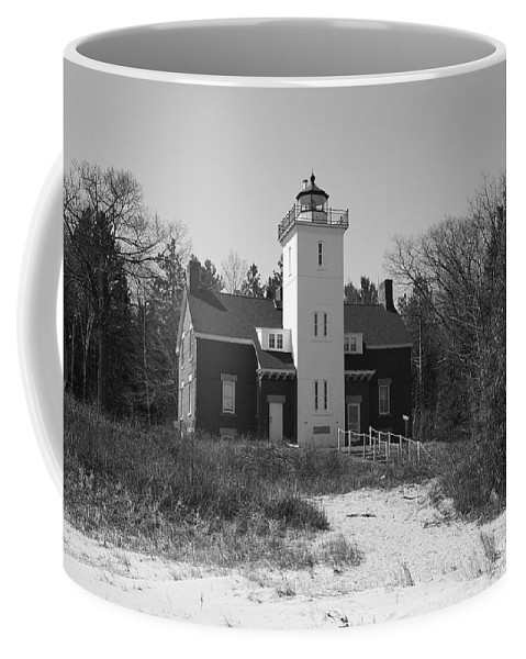40 Coffee Mug featuring the photograph Lighthouse - 40 Mile Point Michigan by Frank Romeo