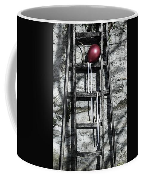 Balloon Coffee Mug featuring the photograph Red Balloon by Joana Kruse
