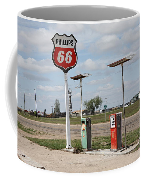 66 Coffee Mug featuring the photograph Route 66 - Adrian Texas by Frank Romeo