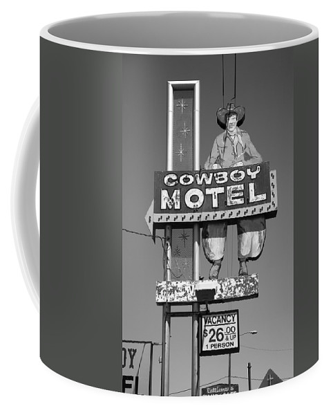 66 Coffee Mug featuring the photograph Route 66 - Cowboy Motel by Frank Romeo