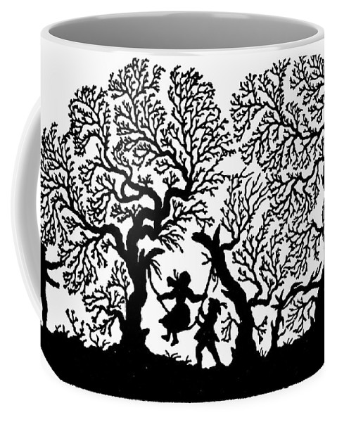 19th Century Coffee Mug featuring the painting Silhouette 19th Century by Granger