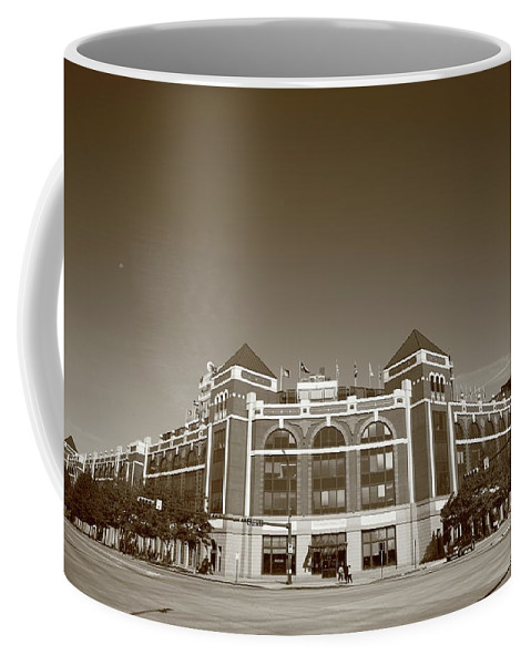 America Coffee Mug featuring the photograph Texas Rangers Ballpark In Arlington by Frank Romeo
