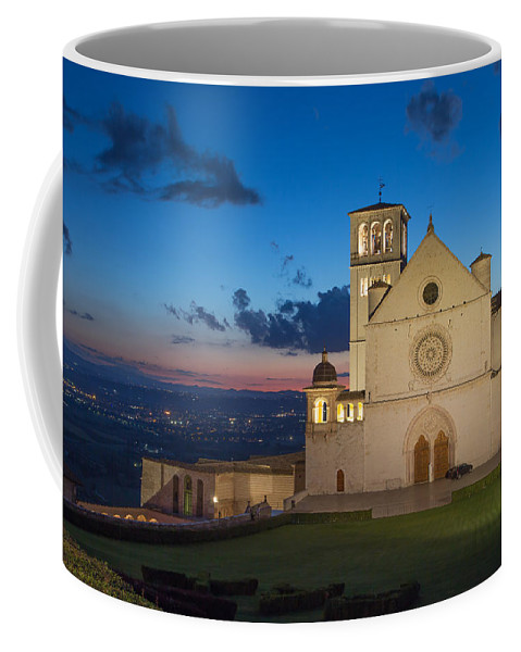 Landmark Coffee Mug featuring the photograph The Papal Basilica Of St. Francis Of Assisi by Jaroslav Frank