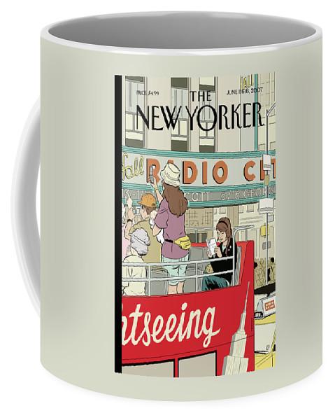 Big City Thrills Coffee Mug featuring the painting Big City Thrills by Adrian Tomine