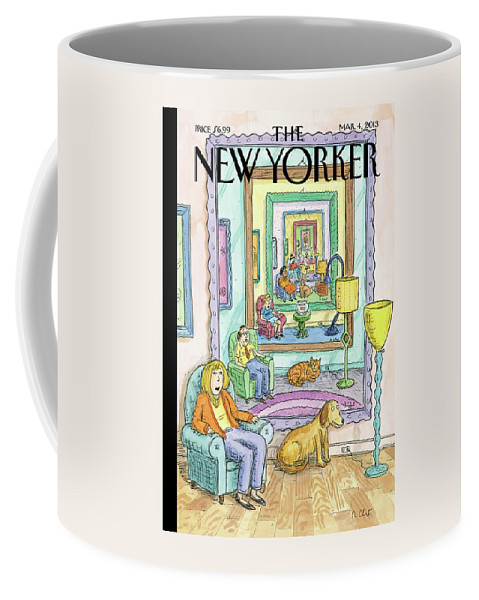 Dog Coffee Mug featuring the painting New Yorker March 4th, 2013 by Roz Chast