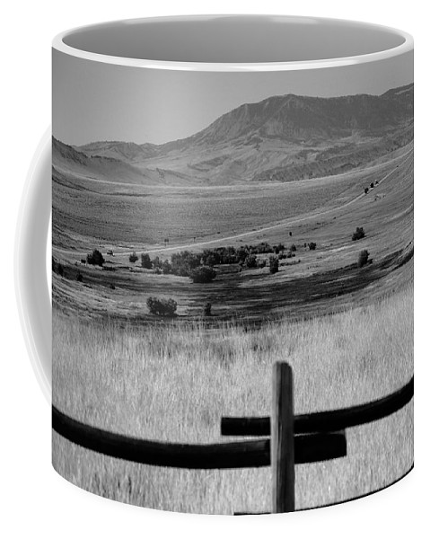 Adventure Coffee Mug featuring the photograph Wyoming Landscape by Frank Romeo