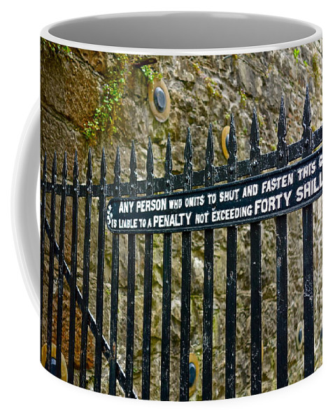 Gate Coffee Mug featuring the photograph 40 Shillings by Charlie Brock