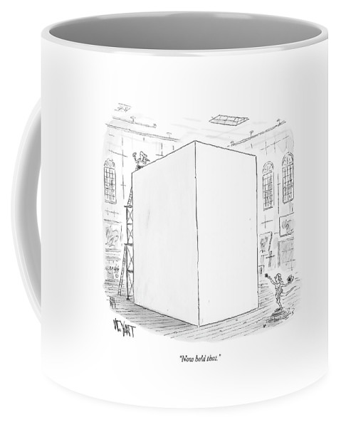 Stone Coffee Mug featuring the drawing Now Hold That by Christopher Weyant
