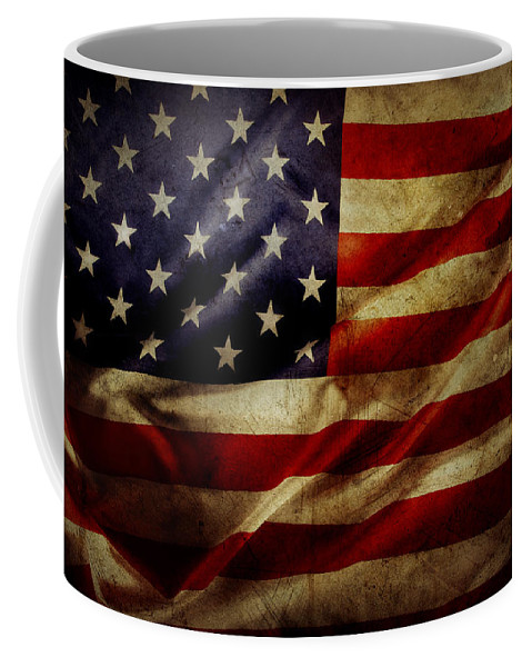 Flag Coffee Mug featuring the photograph American Flag by Les Cunliffe
