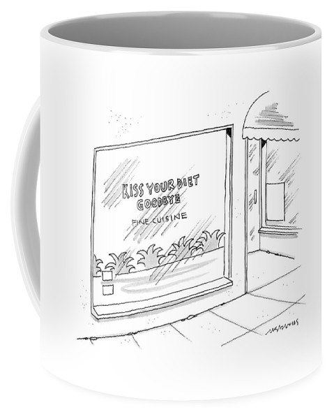 Word Play Coffee Mug featuring the drawing New Yorker August 7th, 2006 by Mick Stevens