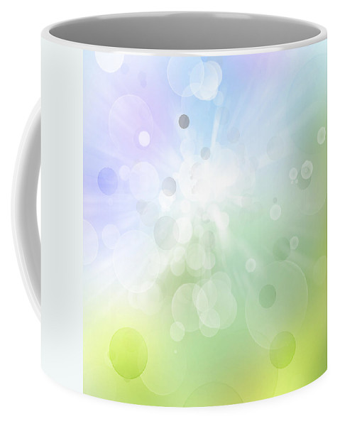 Green Coffee Mug featuring the digital art Abstract Background by Les Cunliffe