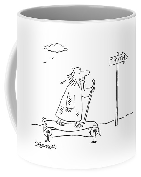 Truth Coffee Mug featuring the drawing New Yorker April 16th, 2007 by Charles Barsotti