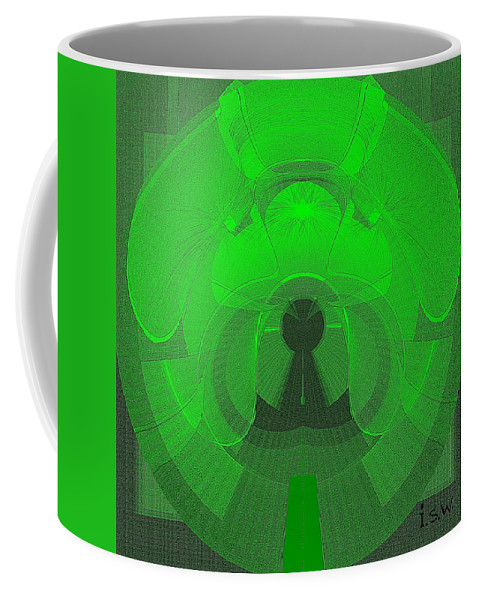 Abstract Coffee Mug featuring the painting 471 - The Keyhole by Irmgard Schoendorf Welch