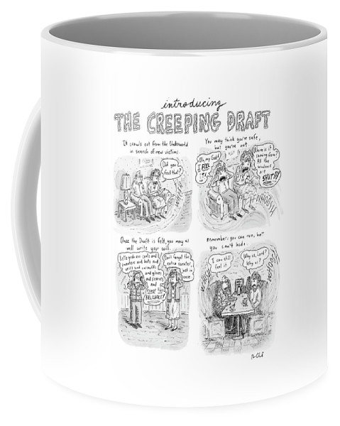 Draft Coffee Mug featuring the drawing New Yorker January 15th, 2007 by Roz Chast