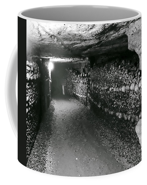 Paris Coffee Mug featuring the photograph Skulls And Bones In The Catacombs Of Paris France by Richard Rosenshein