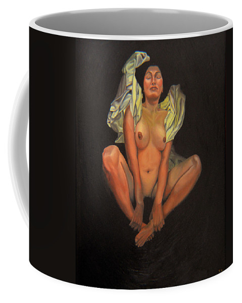 Nude Coffee Mug featuring the painting 5 30 A.m. by Thu Nguyen