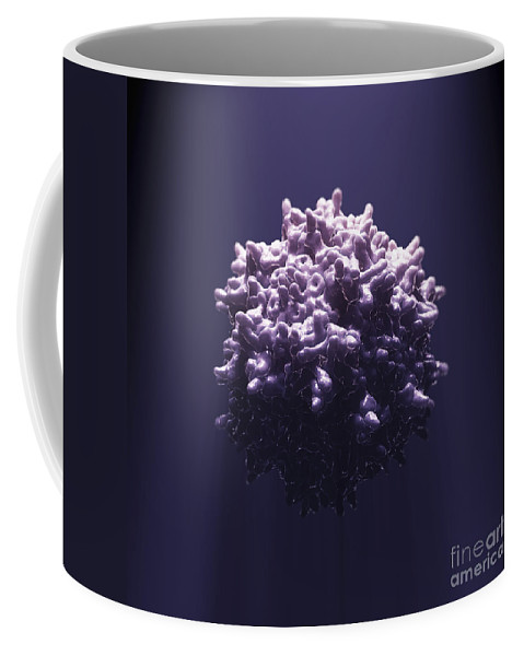 Aav Coffee Mug featuring the photograph Adeno-associated Virus by Science Picture Co