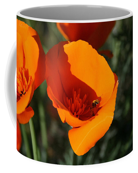 California Poppies Coffee Mug featuring the painting California Poppies by Ellen Henneke