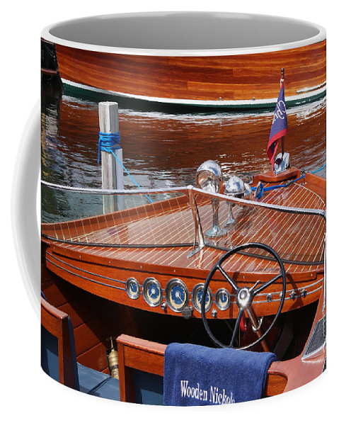 Boat Coffee Mug featuring the photograph Chris Craft Sportsman by Neil Zimmerman