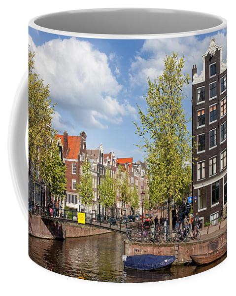 Amsterdam Coffee Mug featuring the photograph City Of Amsterdam Cityscape by Artur Bogacki