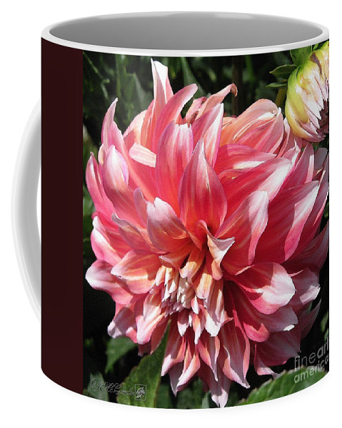 Mccombie Coffee Mug featuring the painting Dahlia Named Myrtle's Brandy by J McCombie