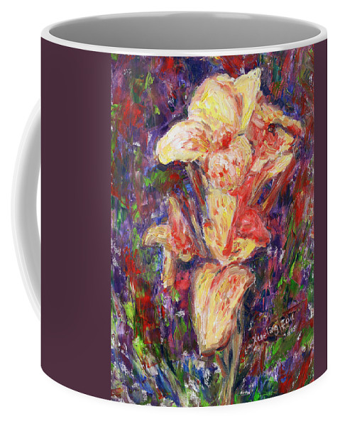 Trapicana Coffee Mug featuring the painting First Lady by Xueling Zou