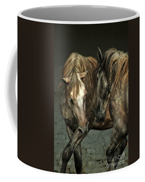 Horse Coffee Mug featuring the photograph Flamenco by Angel Ciesniarska