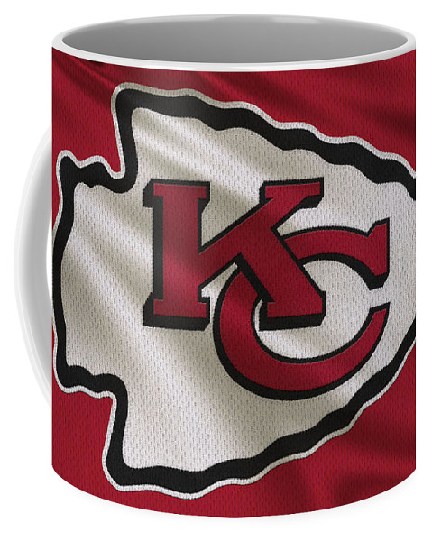 Chiefs Coffee Mug featuring the photograph Kansas City Chiefs Uniform by Joe Hamilton
