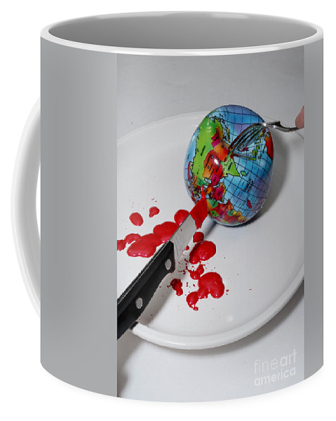 Africa Coffee Mug featuring the photograph Reflected Globe by Amy Cicconi