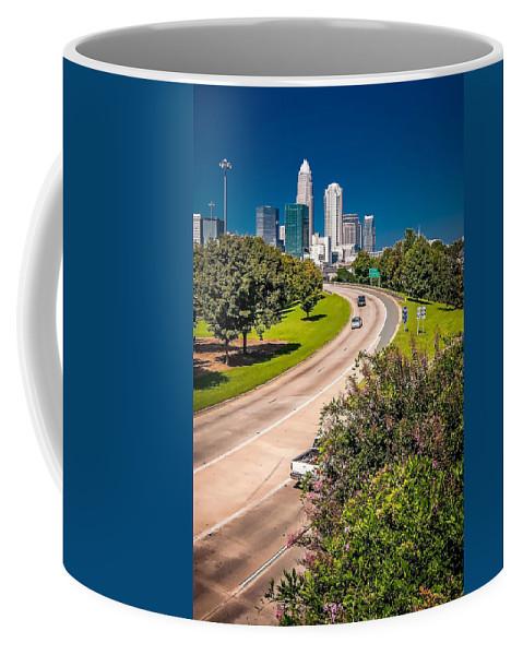 North Coffee Mug featuring the photograph Skyline Of Uptown Charlotte North Carolina by Alex Grichenko