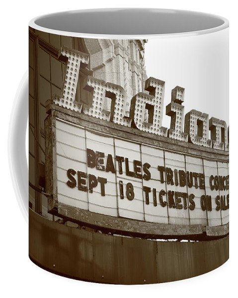 America Coffee Mug featuring the photograph Terre Haute - Indiana Theater by Frank Romeo