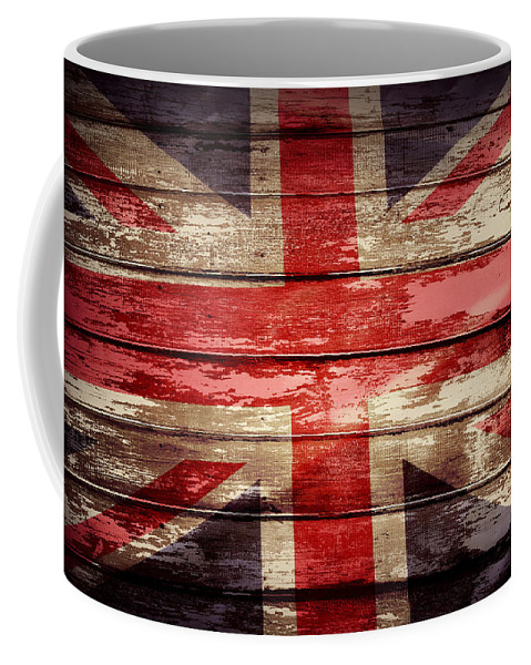 Boards Coffee Mug featuring the photograph Union Jack Flag by Les Cunliffe