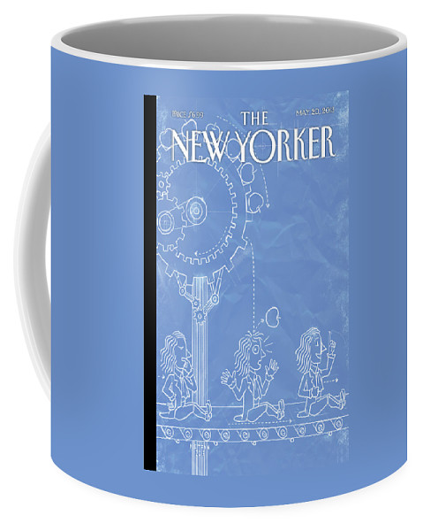 Intelligent Design Coffee Mug featuring the painting New Yorker May 20th, 2013 by Christoph Niemann