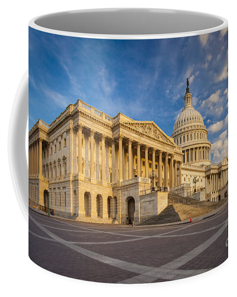 America Coffee Mug featuring the photograph Us Capitol by Brian Jannsen