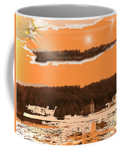 Unknown Planet ? Coffee Mug featuring the digital art Space Landscape by Augusta Stylianou