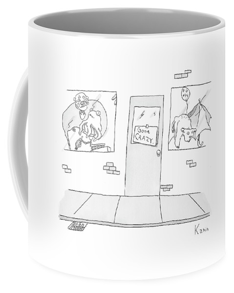 Stores Coffee Mug featuring the drawing New Yorker April 21st, 2008 by Zachary Kanin