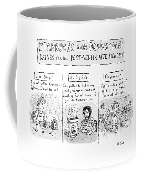 Starbucks Coffee Mug featuring the drawing New Yorker April 14th, 2008 by Roz Chast