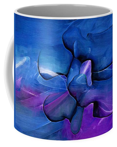 Chiropractor Coffee Mug featuring the digital art Lumbar Spine by Joseph Ventura