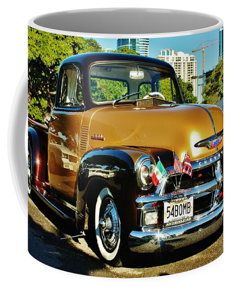 1954 Chevy Pick Up Coffee Mug featuring the photograph 54 Bomb by Craig Wood