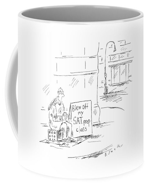 Tin Cup Urban Problems Money Education Word Play (student With Cup In Hand Coffee Mug featuring the drawing New Yorker May 23rd, 2005 by Barbara Smaller